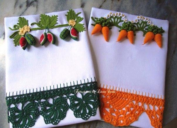 Puntillas a crochet para servilletas y manteles01