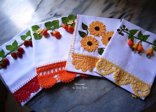 Puntillas a crochet para servilletas y manteles02