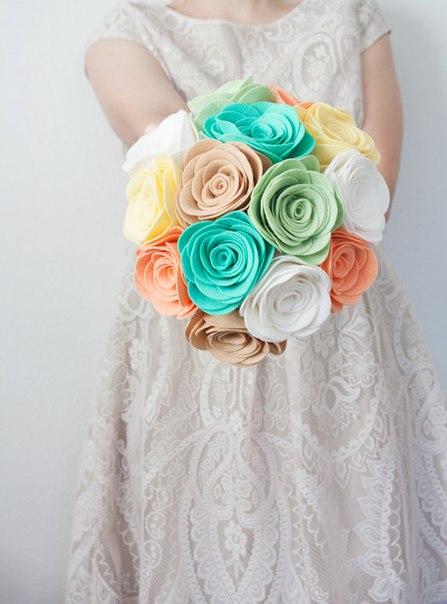 Ramos de flores de fieltro02