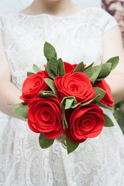 Ramos de flores de fieltro05