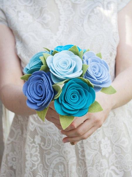 Ramos de flores de fieltro06