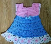 Vestido para niñas tejido a crochet con patrones