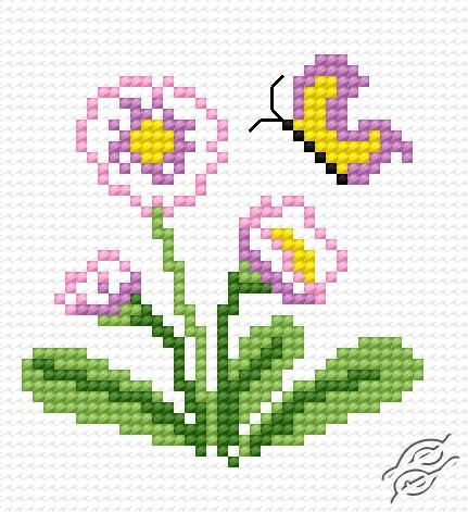 Bonitos bordados en punto de cruz de flores01