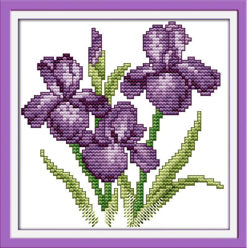 Bonitos bordados en punto de cruz de flores05