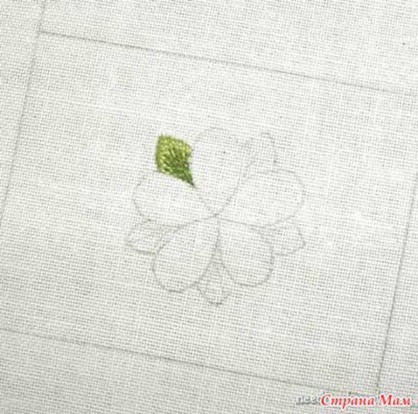 Como bordar flores paso a paso05