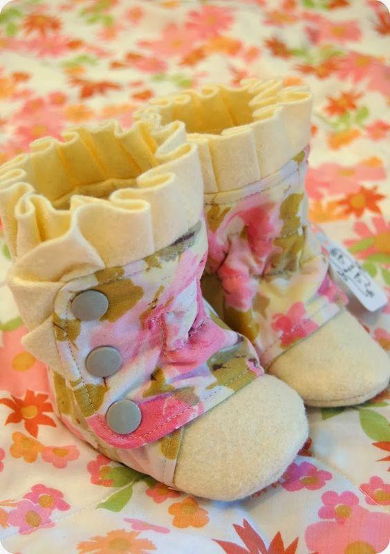 Como hacer botines de fieltro con moldes03