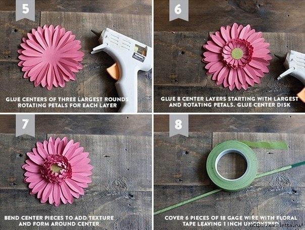 Como hacer flores de papel paso a paso - Como se hacen flores de papel ...