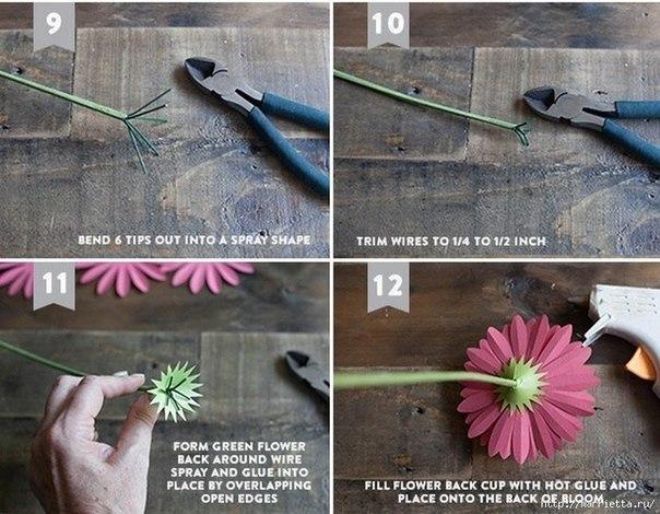 Como hacer flores de papel paso a paso03