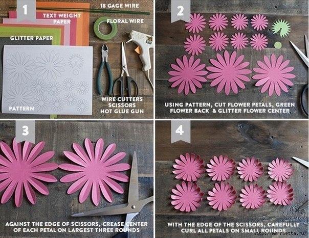 Como hacer flores de papel paso a paso04