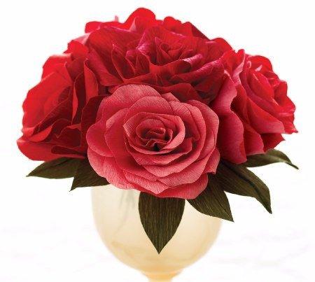 Como hacer rosas de papel paso a paso01