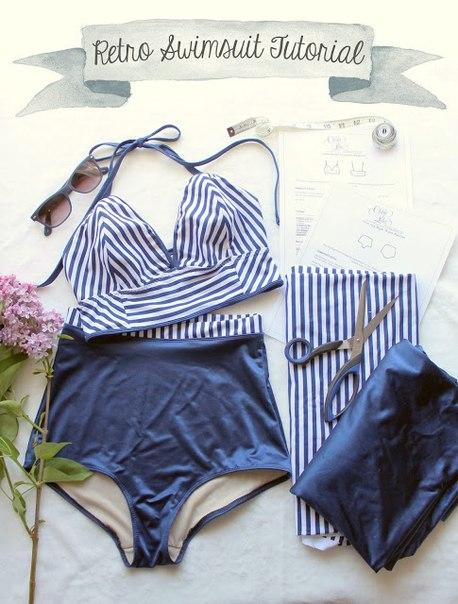 Como hacer trajes de baño pin up de dos piezas06
