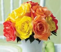 Como hacer un ramo de rosas de papel crepe