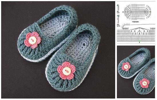 Como hacer zapatos a crochet para niñas03