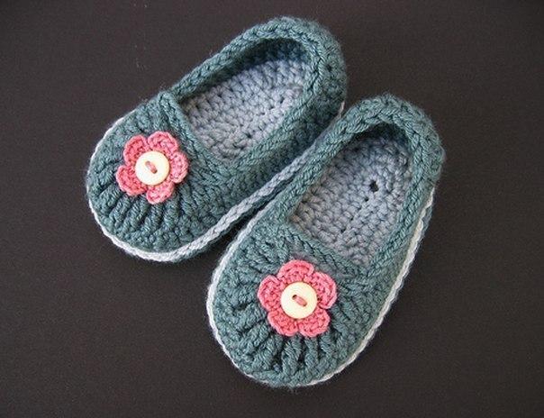 Como hacer zapatos a crochet para niñas05