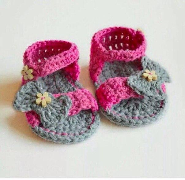 Zapatitos tejidos a crochet para bebe02