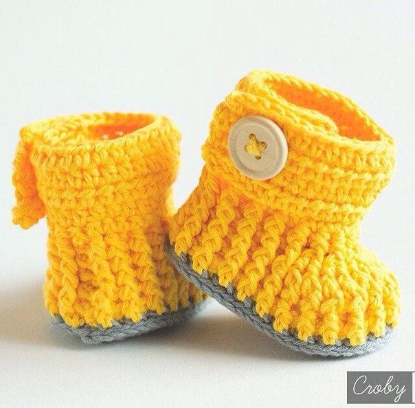 Zapatitos tejidos a crochet para bebe04