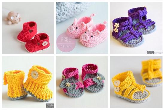 Zapatitos tejidos a crochet para bebe06