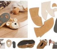 Como hacer zapatillas de fieltro con moldes para niños
