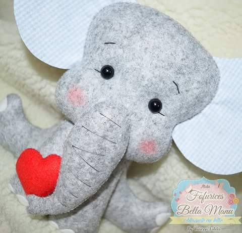 Como hacer elefantes de fieltro con moldes01