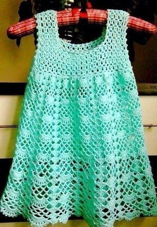 Como hacer vestidos a crochet para niñas01