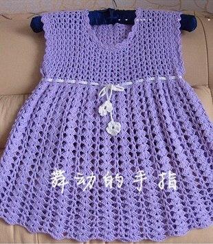 Como hacer vestidos a crochet para niñas05