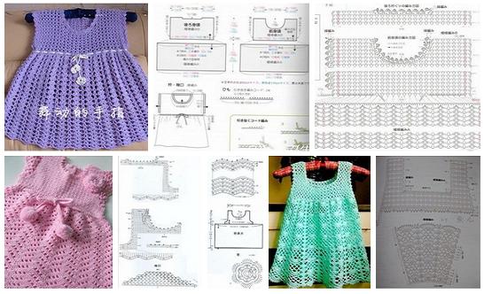 Como hacer vestidos a crochet para niñas07