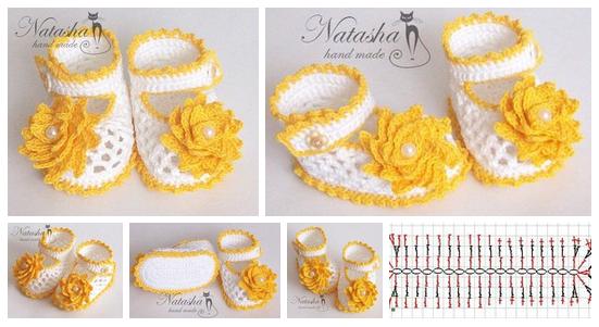 Zapatitos tejidos a crochet para bebes02