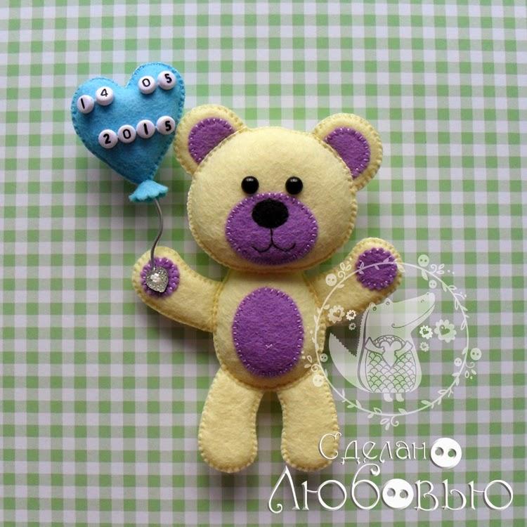 Como hacer osos de fieltro con moldes