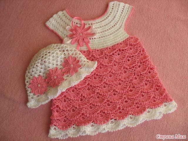 Como hacer vestidos a crochet para niñas
