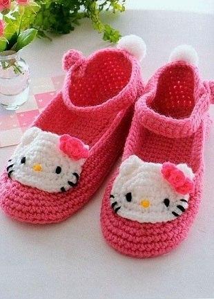 Como hacer zapatos de Hello Kitty a crochet02