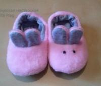 Moldes para hacer pantuflas de conejitos para bebes