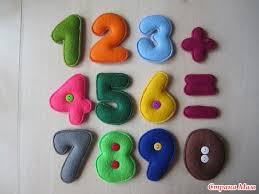 Como hacer numeros de fieltro con moldes