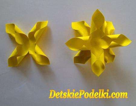 Como hacer un ramo de narcisos de papel03
