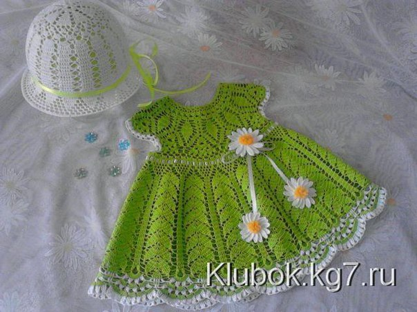 Como hacer un vestido a crochet para niñas01