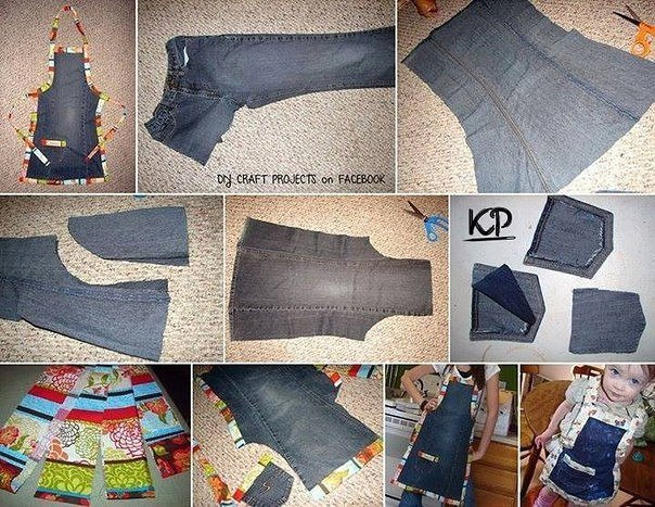 Elabora un delantal de un jeans01