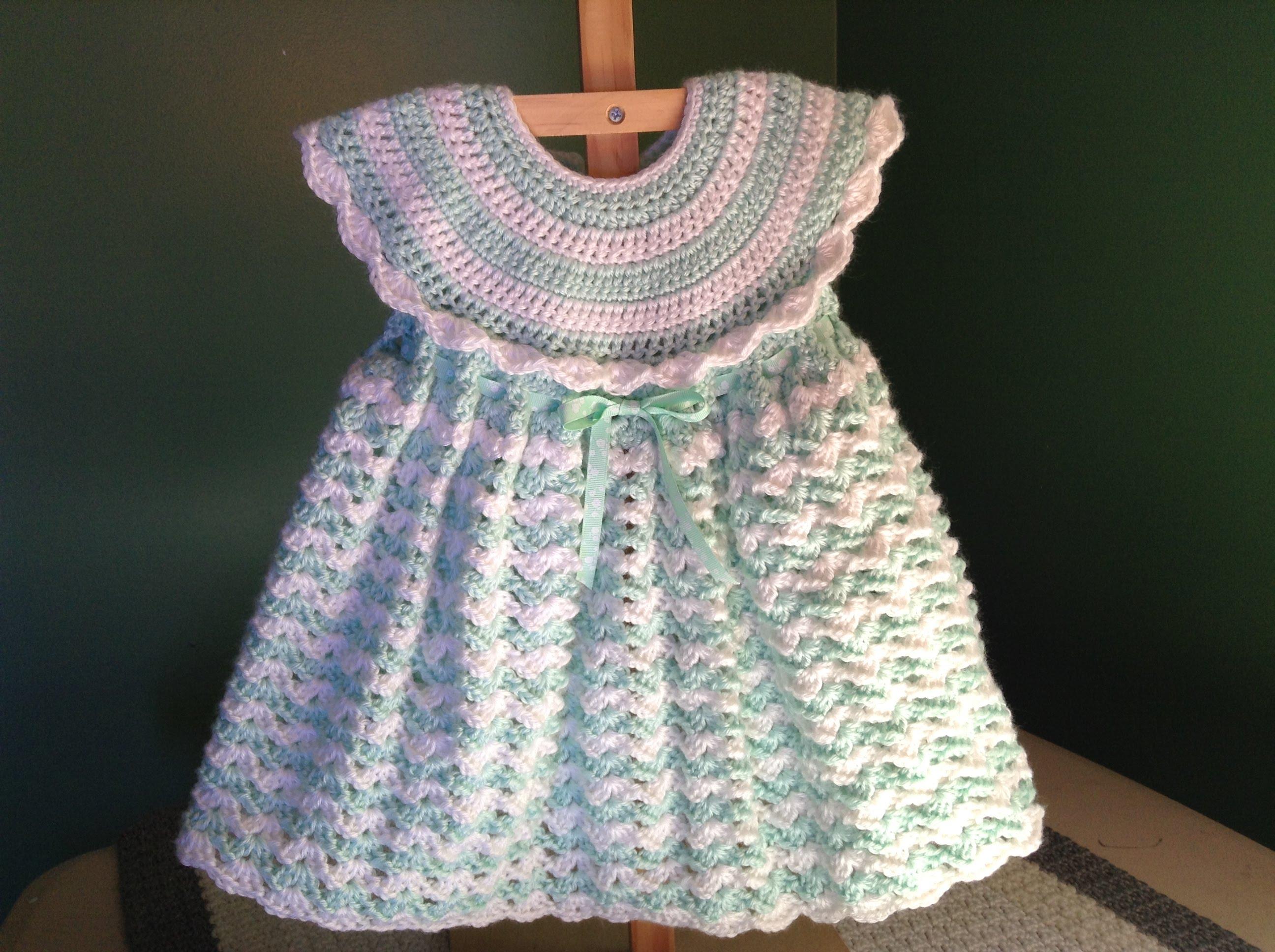 Como hacer un vestido a crochet para niñas