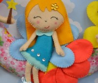 Bonitas muñecas de fieltro con moldes