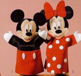 Como hacer titeres de mickey y minnie mouse03