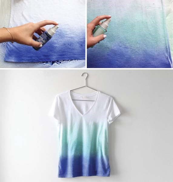 como hacer camisetas degradadas DIY2