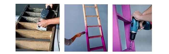como hacer un práctico aerocloset con una escalera1
