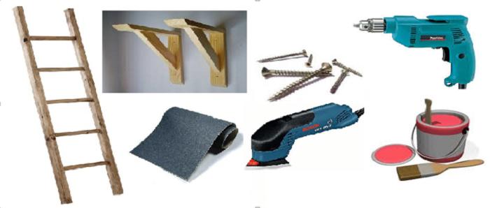 como hacer un práctico aerocloset con una escalera2