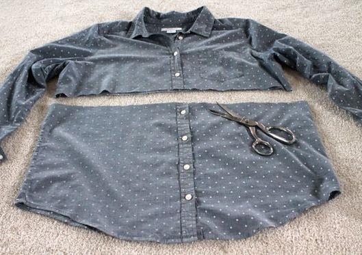 como hacer un vestido uniendo una camiseta y un sueter2