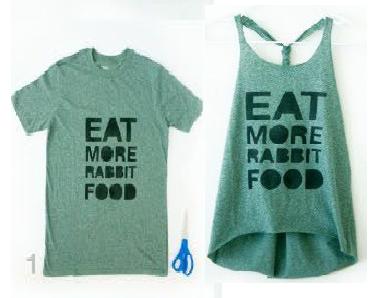como transformar camisetas en lindas franelillas1