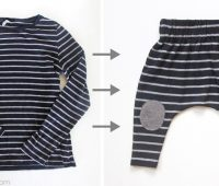 Convertir un suéter en un monito de bebé