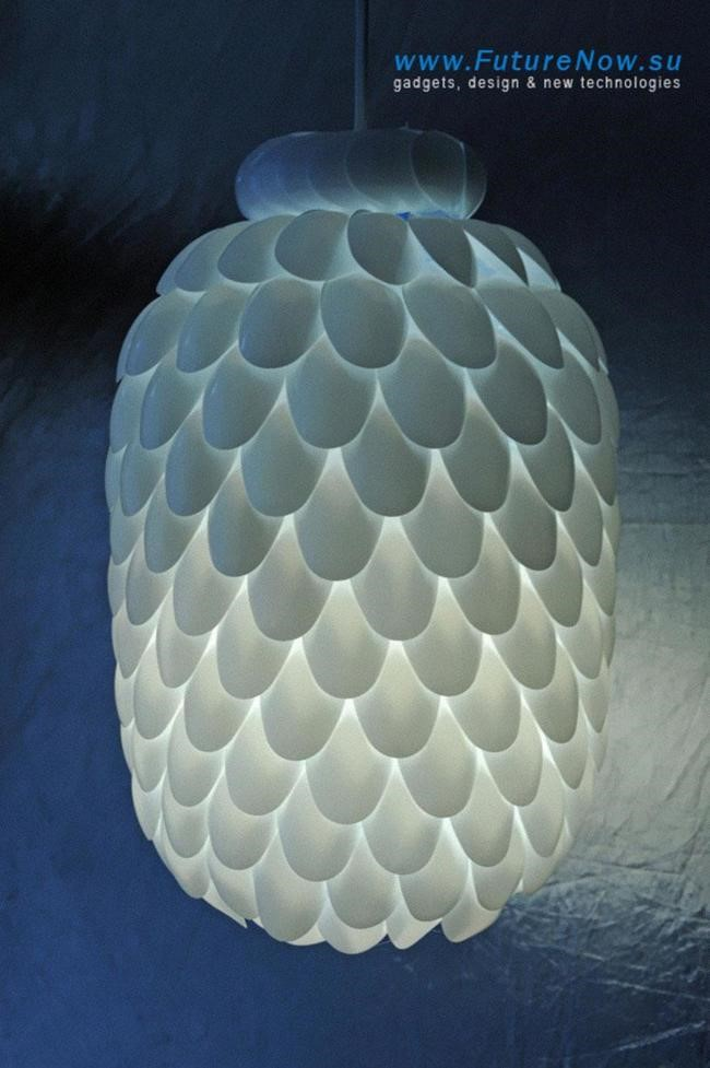 como hacer lámparas con cucharillas3