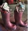 como hacer que las botas de caucho luzcan femeninas5