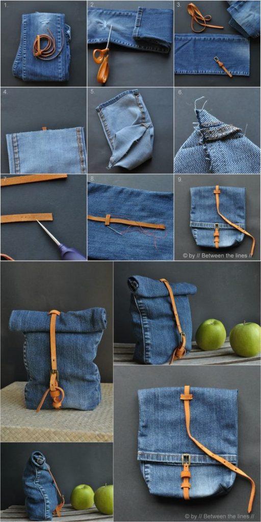 como hacer un bolso con un viejo jean7