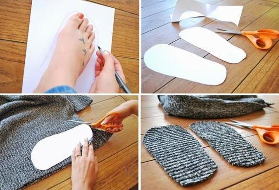 como hacer unas botas para estar en casa10