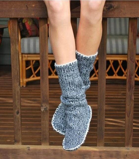 como hacer unas botas para estar en casa14