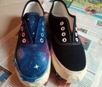 Cómo pintar unas zapatillas de galaxia